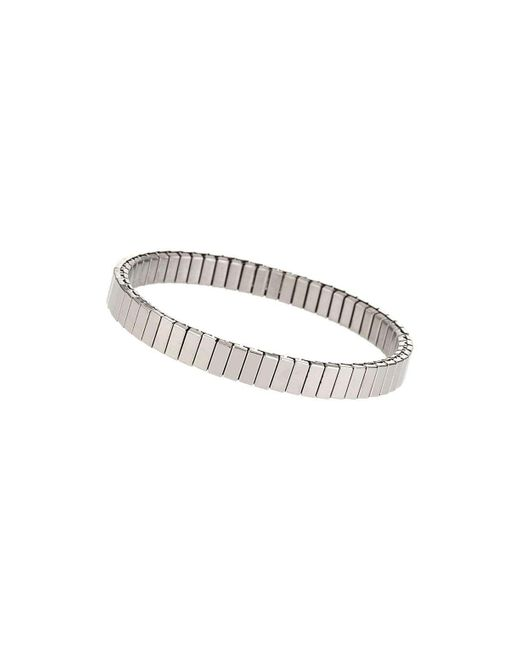 TOPSHOP | Metallic Silver Ridge Stretch Bracelet | Lyst