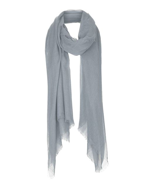 topshop lightweight summer scarf in gray grey lyst