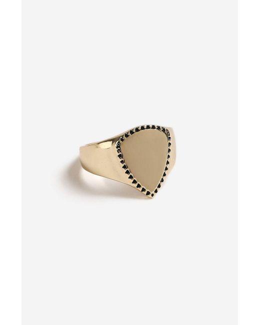 TOPSHOP - Metallic Shield Pinky Ring - Lyst