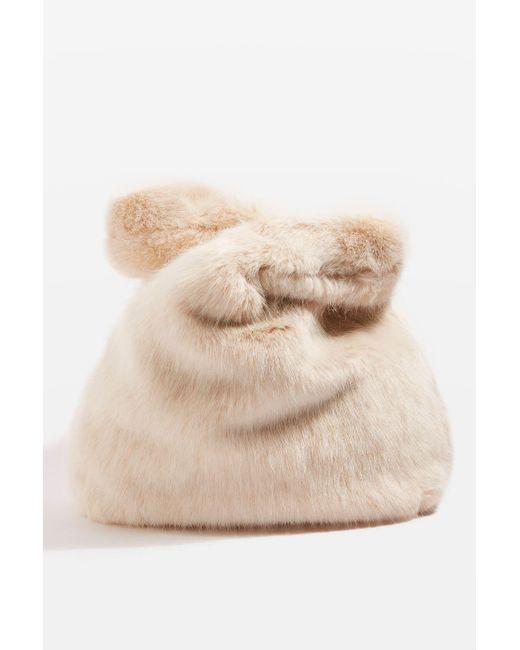 TOPSHOP   Multicolor Dolly Faux Fur Tote Bag   Lyst