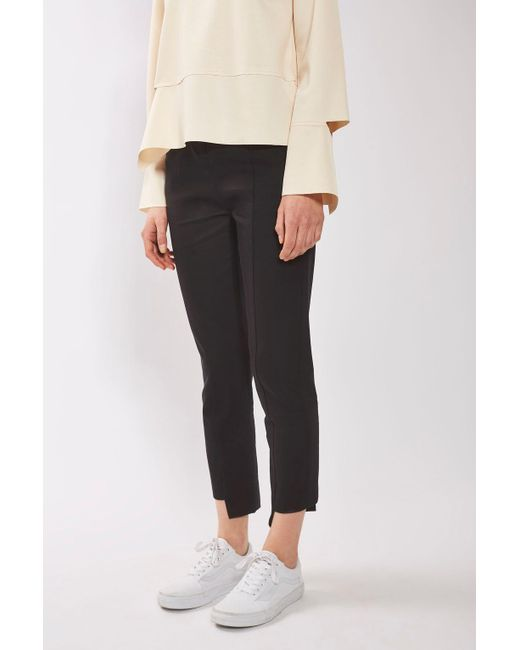 TOPSHOP | Black Stepped Hem Cigarette Trousers By Boutique | Lyst