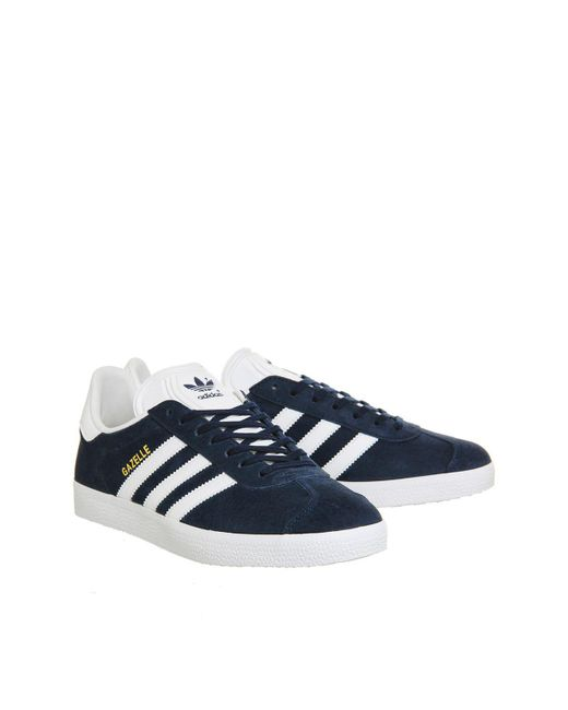Office | Blue Gazelle Trainers By Adidas Originals | Lyst