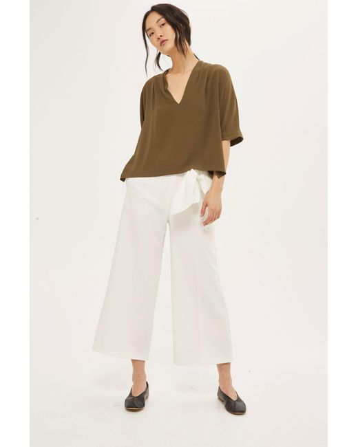 TOPSHOP | Natural Tie Side T-shirt | Lyst