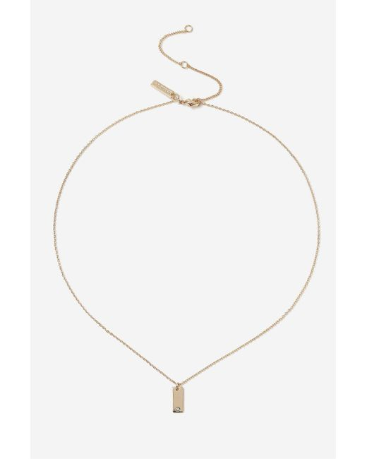 TOPSHOP | Blue March Birthstone Ditsy Necklace | Lyst