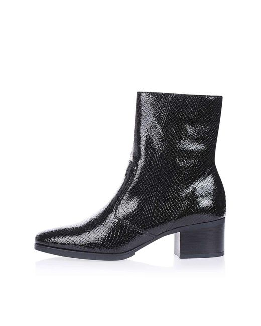 Topshop Marc Snake Ankle Boots In Black Lyst