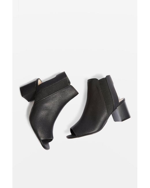 TOPSHOP - Black Wide Fit Dip Chelsea Boots - Lyst