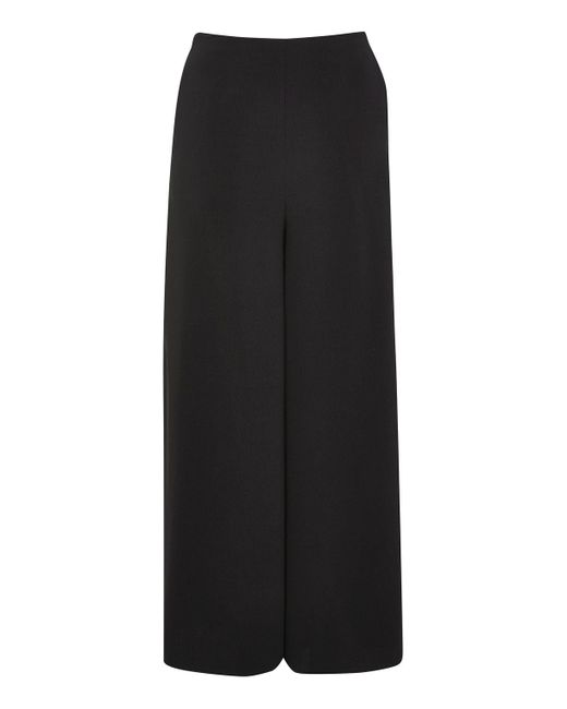 TOPSHOP | Black Side Split Palazzo Trousers | Lyst