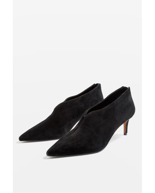 TOPSHOP - Black Pointed Shoe Boots - Lyst