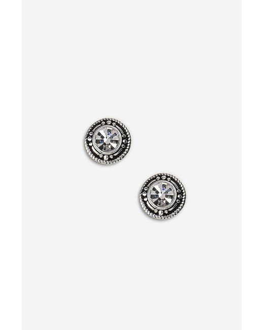 TOPSHOP - Metallic Sterling Silver Twisted Link Earrings - Lyst