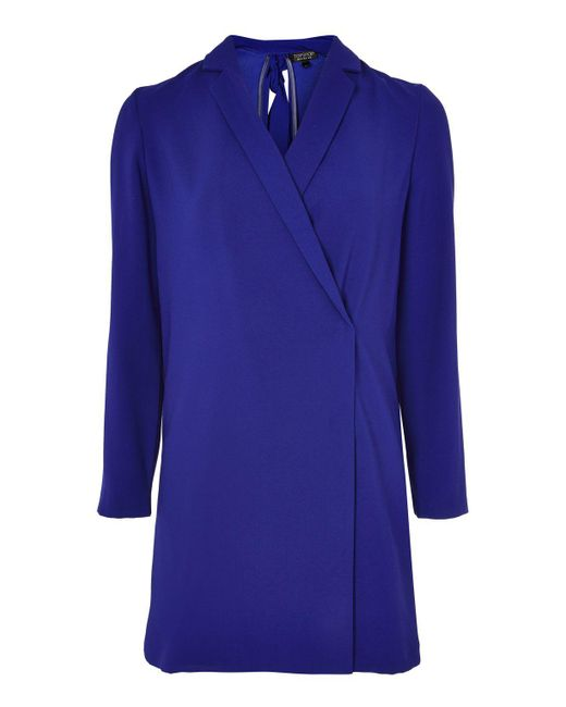 TOPSHOP   Blue Bow Back Blazer Dress   Lyst