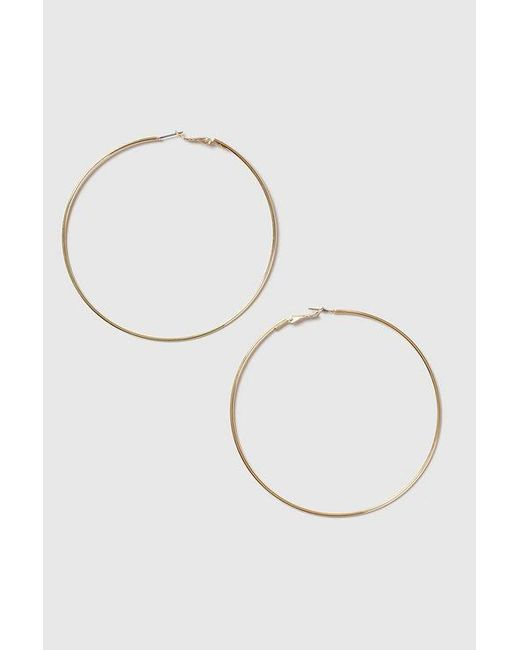 TOPSHOP - Metallic Large Hoop Earrings - Lyst