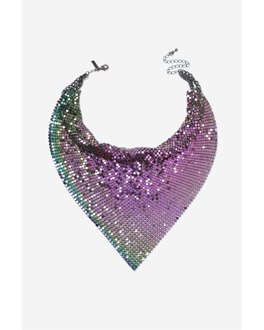 TOPSHOP   Purple Petrol Chainmail Scarf Necklace   Lyst