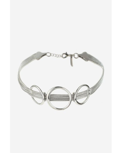 TOPSHOP | Metallic Chain And Ring Choker Necklace | Lyst