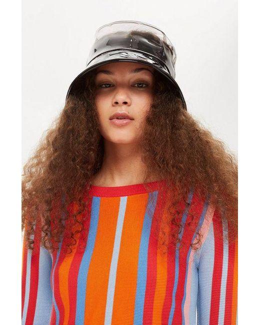 TOPSHOP - Multicolor Monochrome Pvc Bucket Hat - Lyst
