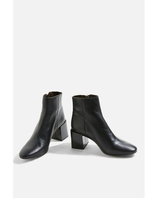 TOPSHOP - Black Mischa Ankle Boots - Lyst