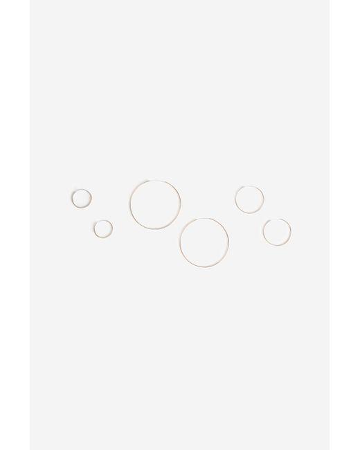 TOPSHOP | Metallic Three Pack Sleeper Hoop Earrings | Lyst