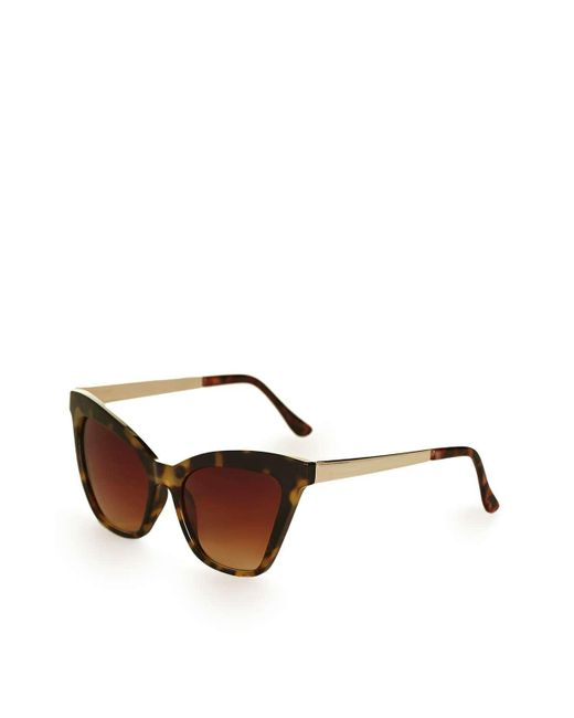 TOPSHOP | Brown Vintage Oval Shaped Sunglasses | Lyst