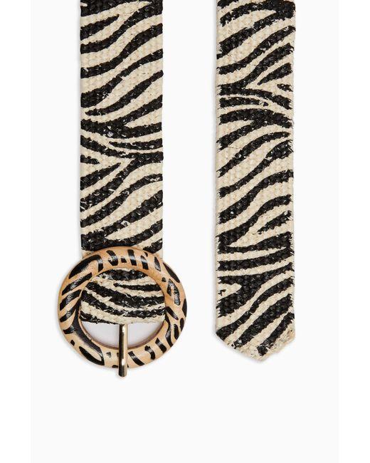 TOPSHOP Zebra Raffia Belt