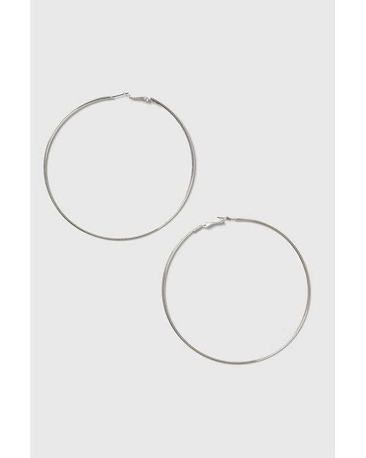 TOPSHOP - Metallic Silver Large Hoop Earrings - Lyst