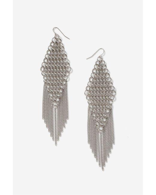 TOPSHOP | Metallic Chainmail Tassel Drop Earrings | Lyst