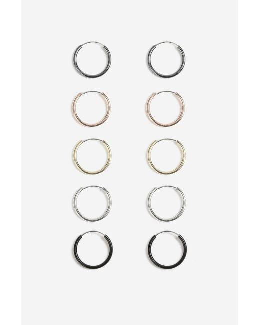 TOPSHOP - Multicolor Mini Hoop Earrings Pack - Lyst