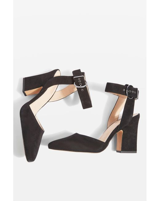 TOPSHOP | Black Grande Mary Jane Heeled Shoes | Lyst