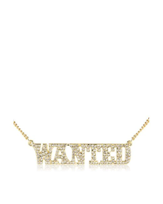 Skinnydip London | Metallic 'wanted' Necklace By Skinny Dip | Lyst