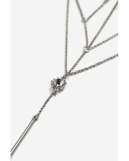 TOPSHOP | Metallic Horn And Stone Laddered Necklace | Lyst