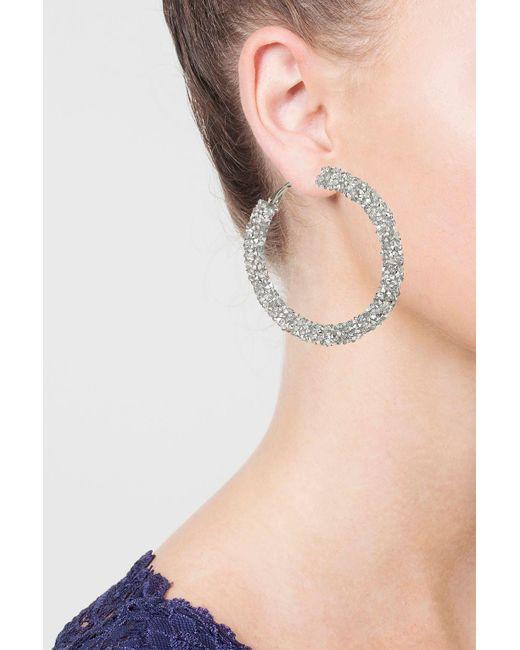 TOPSHOP | Multicolor Facet Hoop Earrings | Lyst