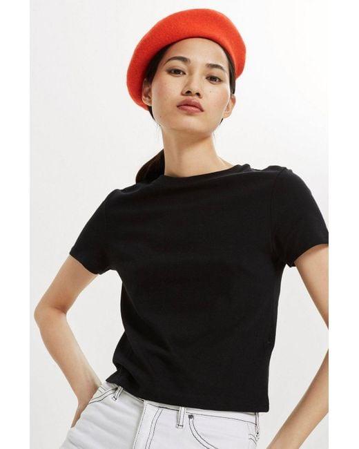 TOPSHOP - Black Tall £6 Crop T-shirt - Lyst