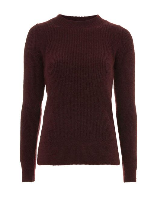 TOPSHOP | Purple Plum Super Soft Crew Neck Jumper | Lyst