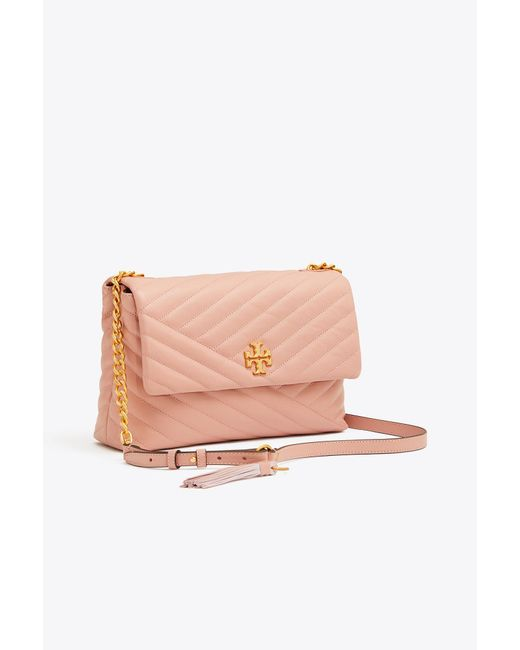 Tory Burch - Pink Kira Chevron Flap Shoulder Bag - Lyst