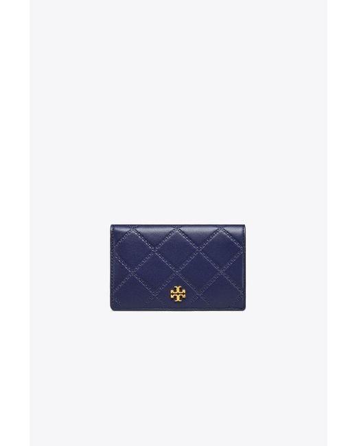 Tory Burch - Blue Georgia Slim Medium Wallet - Lyst