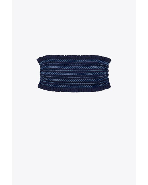 Tory Burch - Blue Costa Bandeau | 004 | Two Piece Tops - Lyst