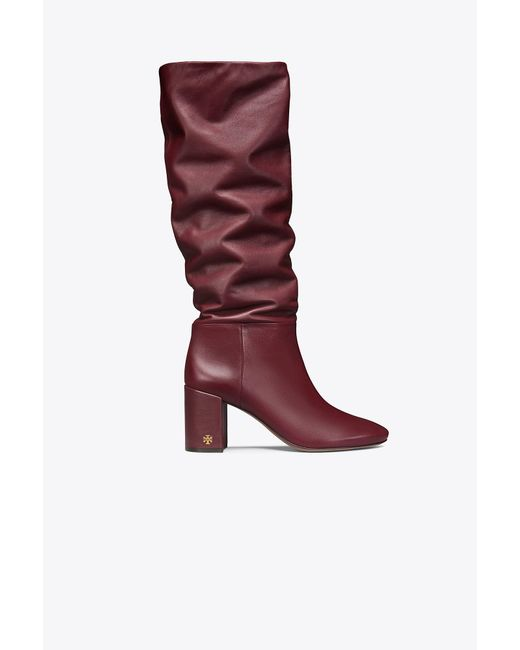 Tory Burch - Red Brooke Slouchy Boot - Lyst