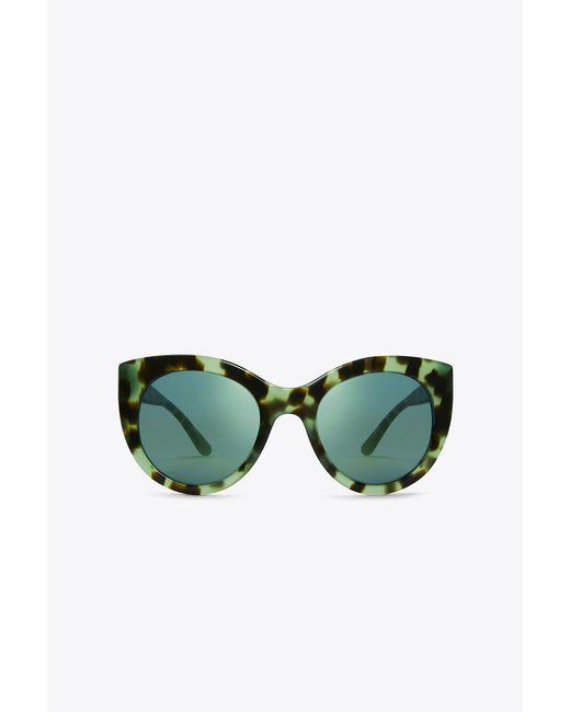Tory Burch | Green Retro Cat-eye Sunglasses | Lyst