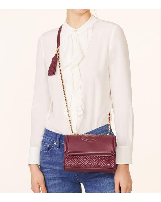 Tory Burch Fleming Small Convertible Shoulder Bag In Pink