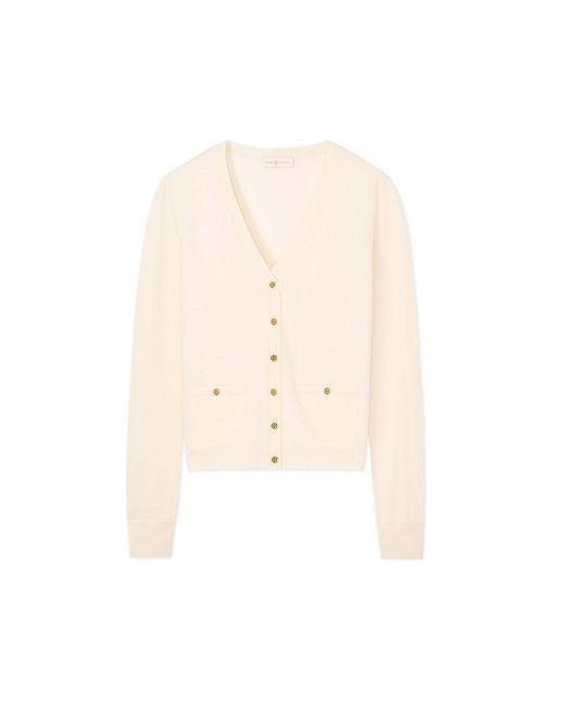 Tory Burch | Multicolor Merino Wool Shrunken Simone Cardigan | Lyst