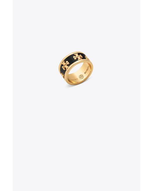 Tory Burch - Metallic Logo Ring - Lyst