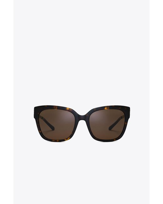 Tory Burch | Brown Modern Square Sunglasses | Lyst