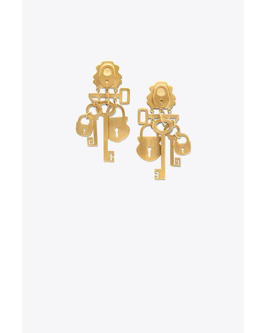 Tory Burch - Metallic Surreal Lock & Key Earring - Lyst
