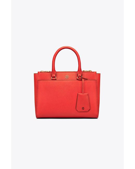 Tory Burch - Red Robinson Small Double-zip Tote - Lyst