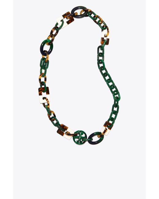 Tory Burch - Multicolor Resin Color-block Necklace - Lyst