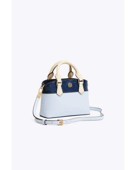 Tory Burch - Blue Robinson Color-block Top-handle Mini Bag - Lyst