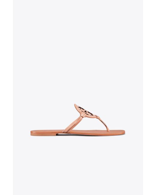 Tory Burch - Multicolor Miller Square-toe Sandal, Leather - Lyst