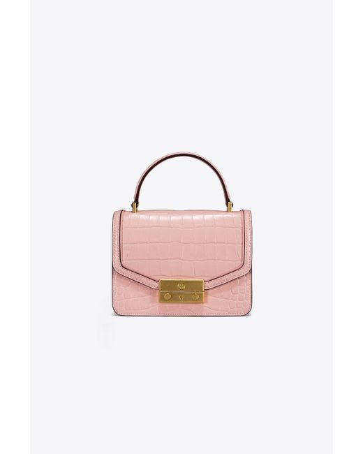 Tory Burch - Pink Juliette Embossed Mini Top-handle Satchel - Lyst