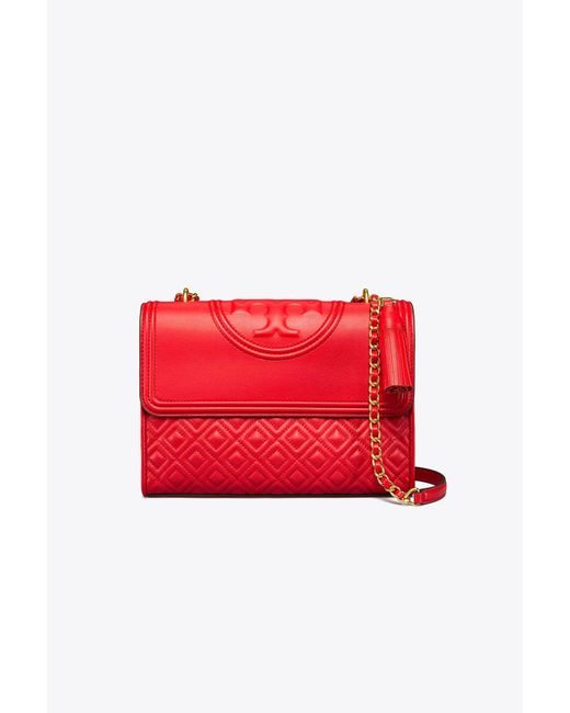 Tory Burch | Red Fleming Convertible Shoulder Bag | Lyst
