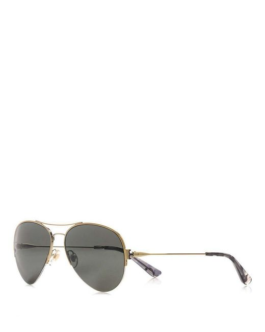 Tory Burch | Metallic Classic Aviator Sunglasses | Lyst