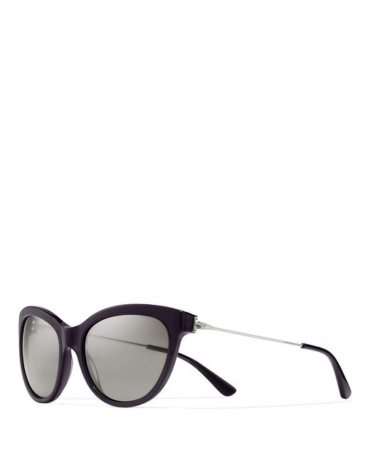 Tory Burch   Gray Metal-temple Cat-eye Sunglasses   Lyst