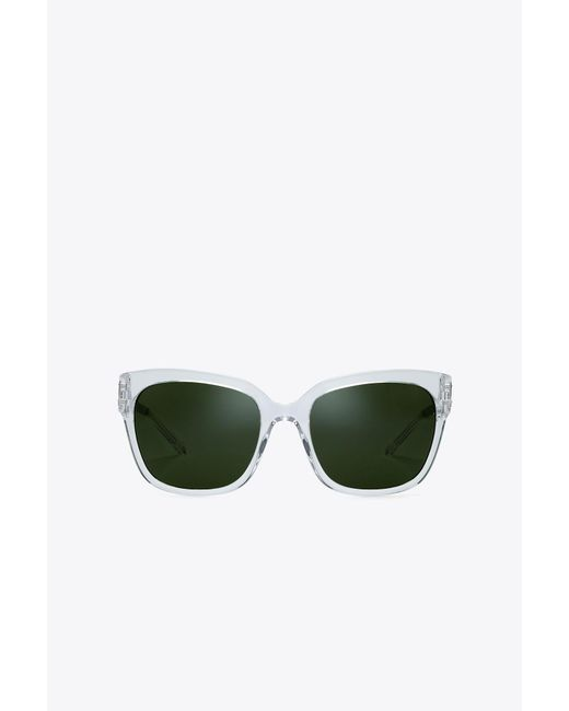 Tory Burch | Green Modern Square Sunglasses | Lyst
